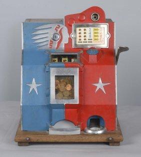 1¢ Mills Indian Qt Miniature Bell Slot Machine