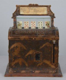 """Rare 5¢ """"california"""" Poker Machine"""