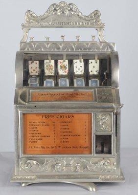 5¢ Watling Draw Poker Flip Card Machine