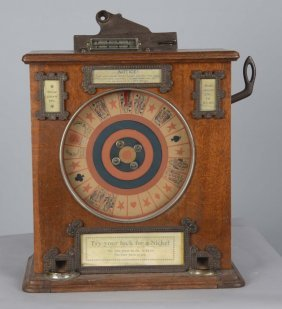 5¢ L.e. Cowper Sun Counter Wheel Machine