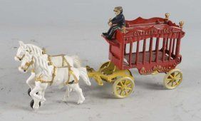 Kenton Cast Iron Circus Wagon Toy