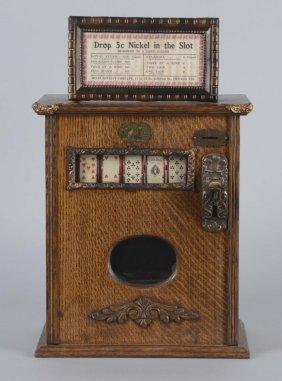 5¢ Mills Upright Card Machine