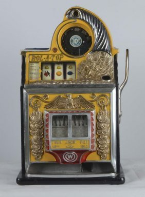10¢ Watling Rol-a-top Coin Front Slot Machine