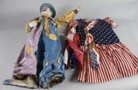 Folk Art Fun House Clown And 4th Of July Dress