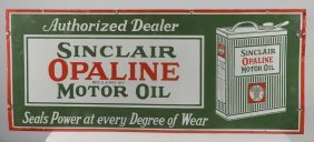 Sinclair Motor Oil Can Sign
