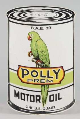 Reproduction Polly Gas Die Cut Tin Sign