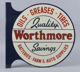 Worthmore Oils-grease-tires Diecut Flange Sign
