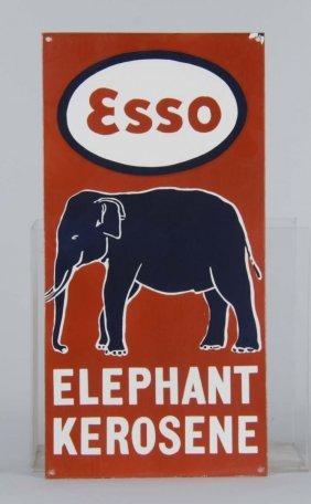 Esso Elephant Kerosene Single Side Porcelain Sign