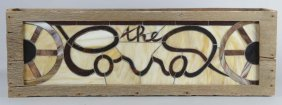 Rustic Stained Glass Sign