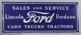 Ford, Lincoln & Fordson Sales Sign