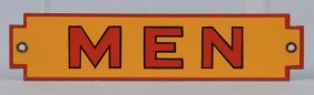 (shell) Men Diecut Porcelain Sign