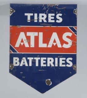 (standard) Atlas Tires Batteries Sign
