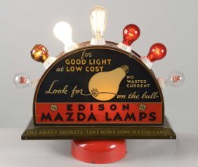 Edison Mazda Lamps Lighted Display