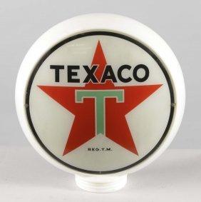 """Texaco (white T) 13-1/2"""" Globe Lenses"""