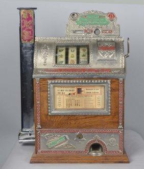 5¢ Mills Counter O.k Gum Vender Front Slot Machine