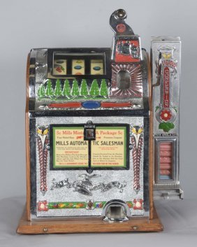 5¢ Mills Operators Bell Vender Slot Machine