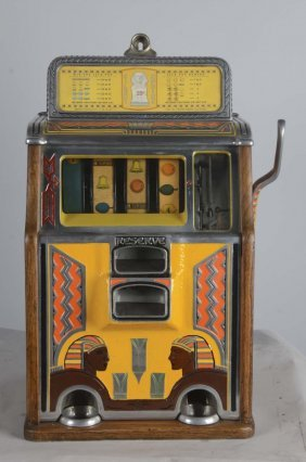 25¢ Caille Silent Sphinx Slot Machine