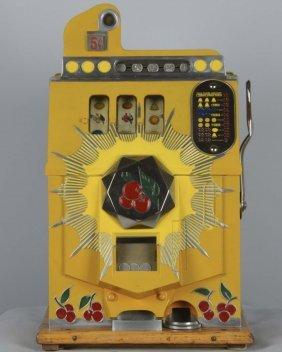 5¢ Mills Bursting Cherry Slot Machine