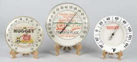 Lot Of 3: Round Nevada Casino Thermometers