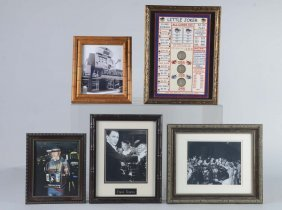 Lot Of 5: Gambling Memorabilia Items In Frames