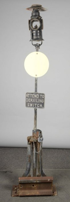 Tall Cast Metal Rail Road Sign