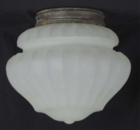 Antique Lamp With Frosted Glass Shade