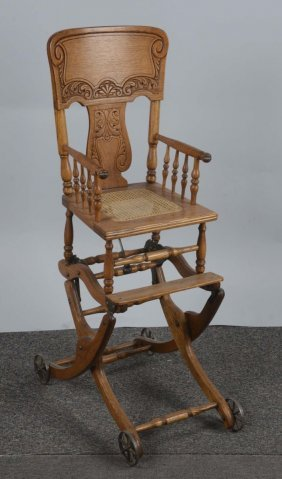 Antique Adjustable High Chair