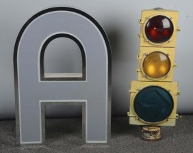 Lot Of 2: Large Lighted Items