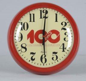 Coke Round 100th Anniversary Wall Clock