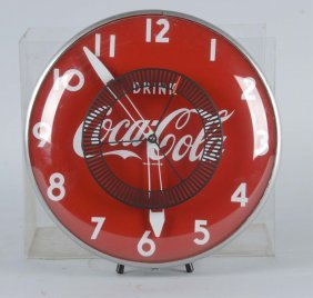 Round Lighted Coca-cola Wall Clock
