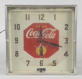 Coca Cola Neon Light Up Square Clock