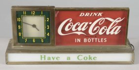 Drink Coca Cola In Bottles Lighted Clock