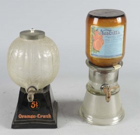 Lot Of 2: Soda Fountain Syrup Dispensers