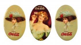 Lot Of 3: Coca - Cola Pocket Mirrors.