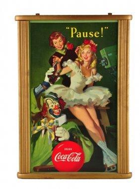 1950 Coca - Cola Cardboard Poster.