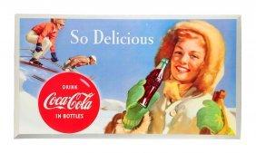 1954 Coca - Cola Ski Girl Poster.