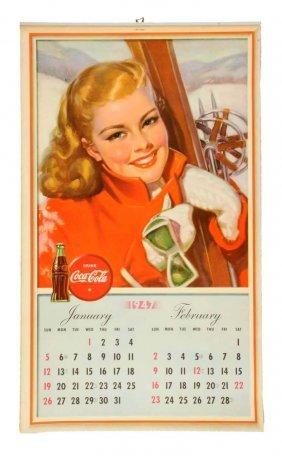 1947 Coca - Cola Complete Calendar.