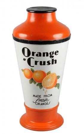 1933 Porcelain And Metal Orange Crush Dispenser.