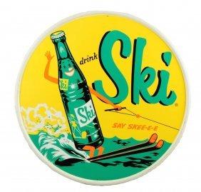 1950's Ski Tin Sign.