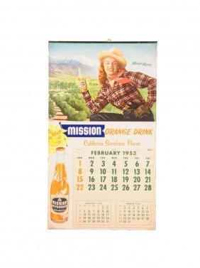 1953 Mission Marilyn Monroe Calendar.