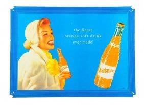 1950's Nesbitt's Soda Cardboard Advertising Sign.