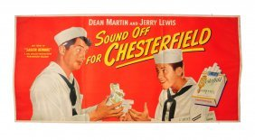 1952 Chesterfield Cigarettes Large Paper Poster.