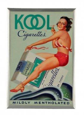 1940's Kool Celluloid Over Tin Sign.