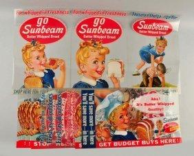 Lot Of 21: 1963 Sunbeam Bread Mylar Signs.