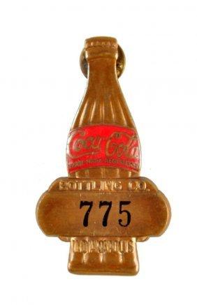1930's Coca - Cola Salesman's Badge.
