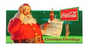 1932 Coca - Cola Santa Cardboard Cutout.