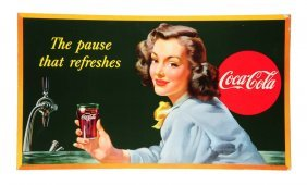 Gorgeous And Rare 1947 Coca - Cola Poster.