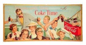 1954 Large Horizontal Coca - Cola Poster.