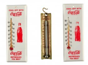 Lot Of 3: Coca - Cola Thermometers.
