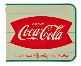 1963 Coca - Cola Tin Flange Sign.